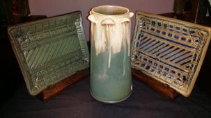Gyl;dcraft Tall Mushroom Vase